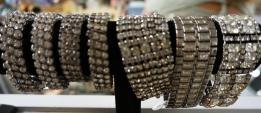 Rhinestone cuff bracelets add a lot of pizzazz.