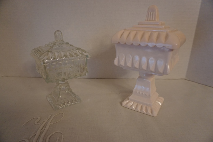 Candy dish or Bride's box?  Both equally lovely.
